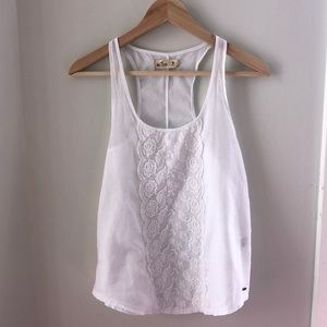 Hollister lace detail top